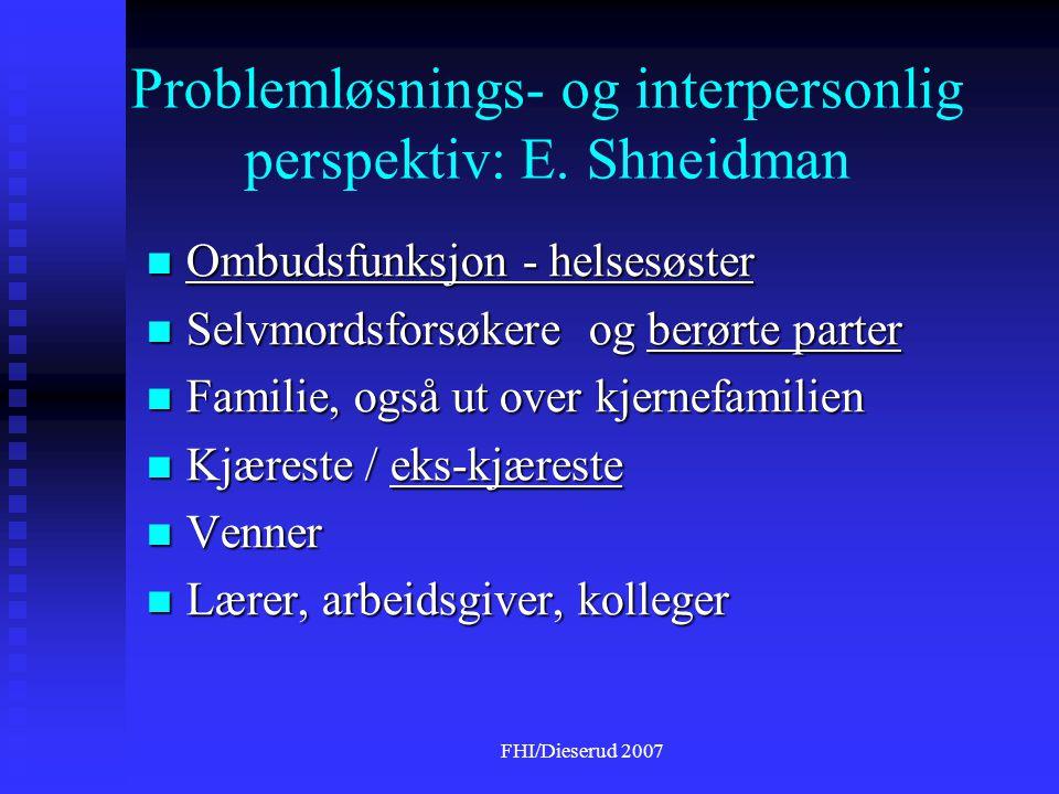 Problemløsnings- og interpersonlig perspektiv: E. Shneidman