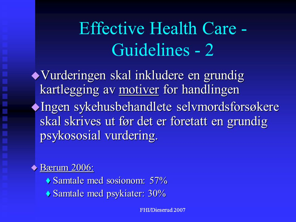 Effective Health Care - Guidelines - 2