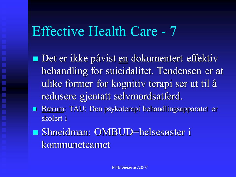 Effective Health Care - 7
