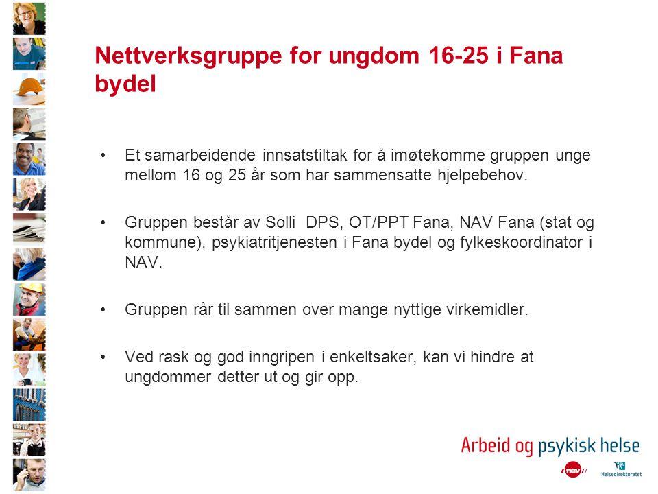 Nettverksgruppe for ungdom 16-25 i Fana bydel