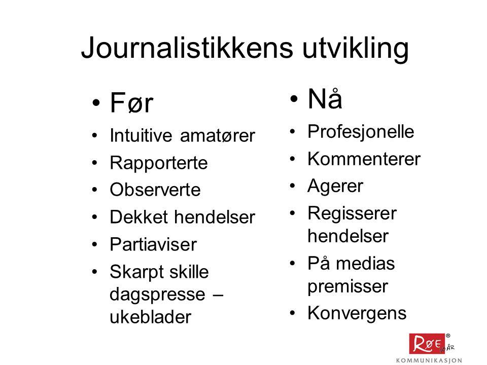 Journalistikkens utvikling