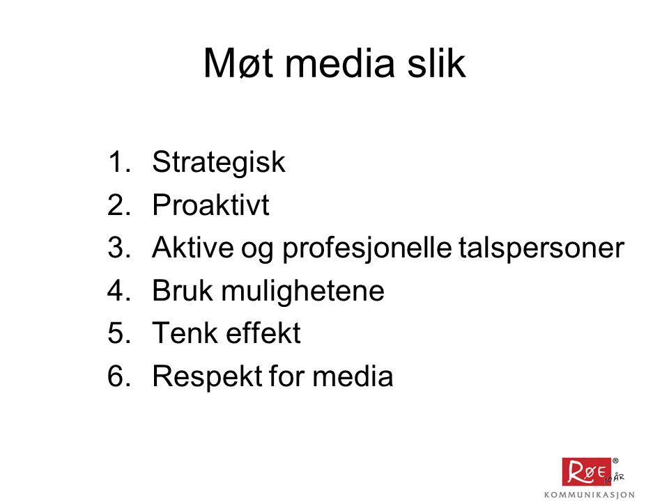 Møt media slik Strategisk Proaktivt