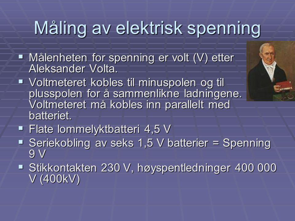 Måling av elektrisk spenning