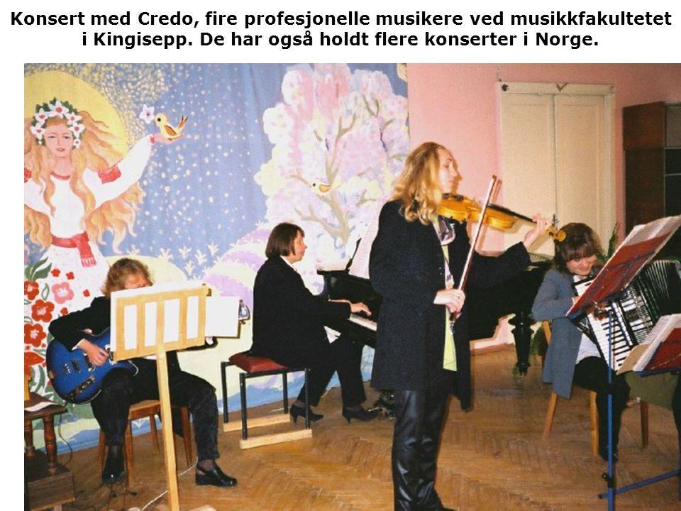 Konsert med Credo, fire profesjonelle musikere ved musikkfakultetet i Kingisepp.