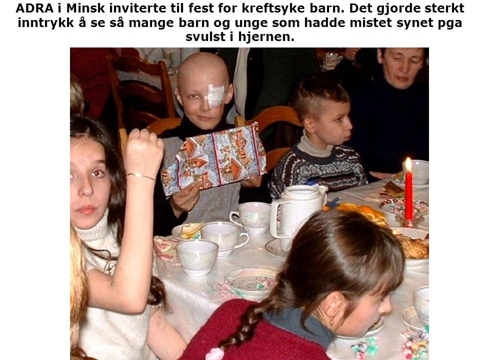 ADRA i Minsk inviterte til fest for kreftsyke barn