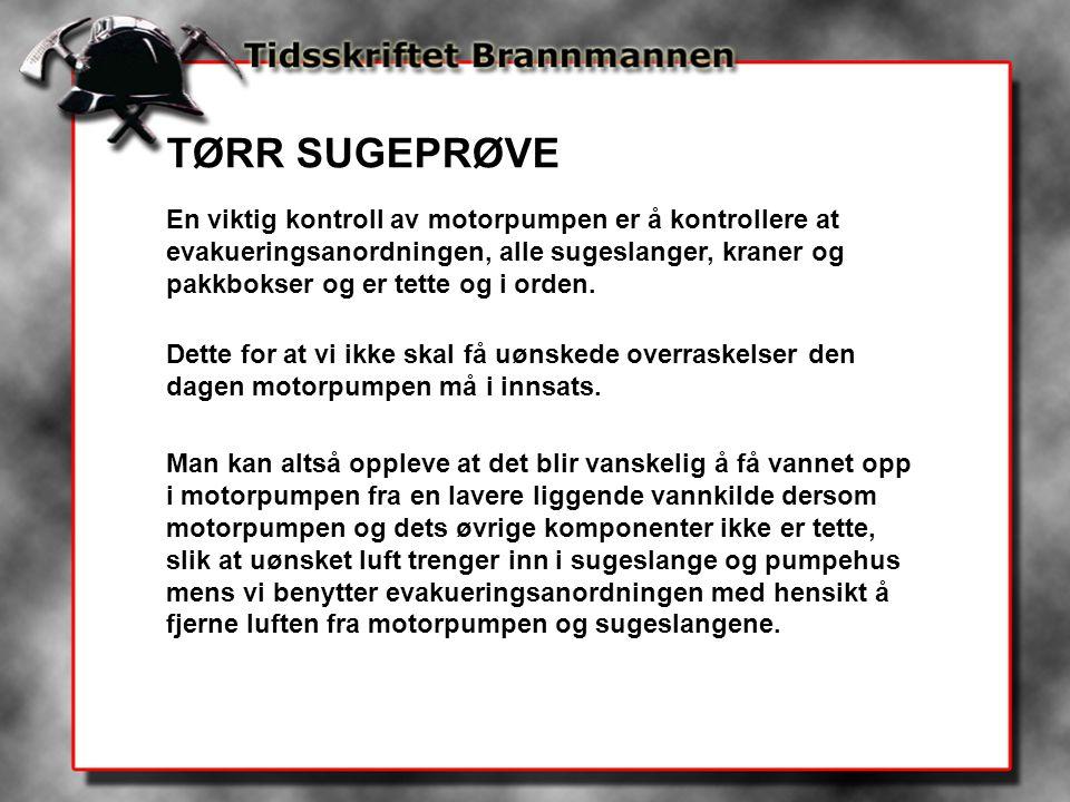 TØRR SUGEPRØVE