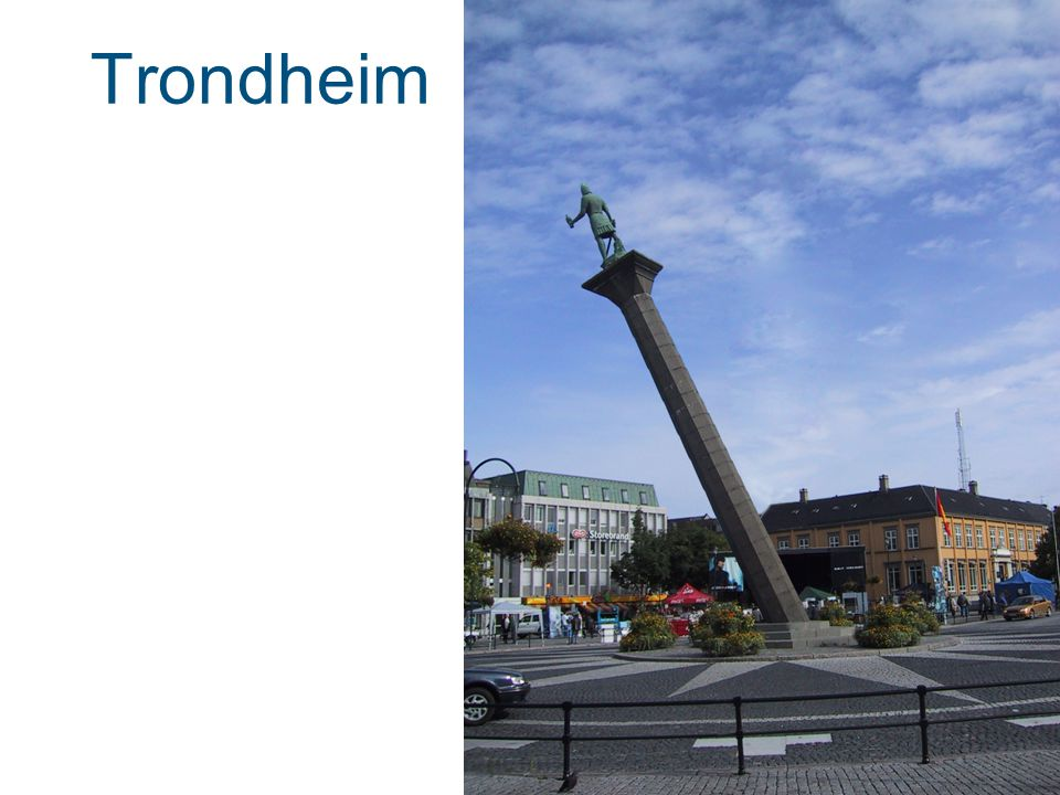 Trondheim Ville soluret i Trondheim vise rett tid om statuen var skrå