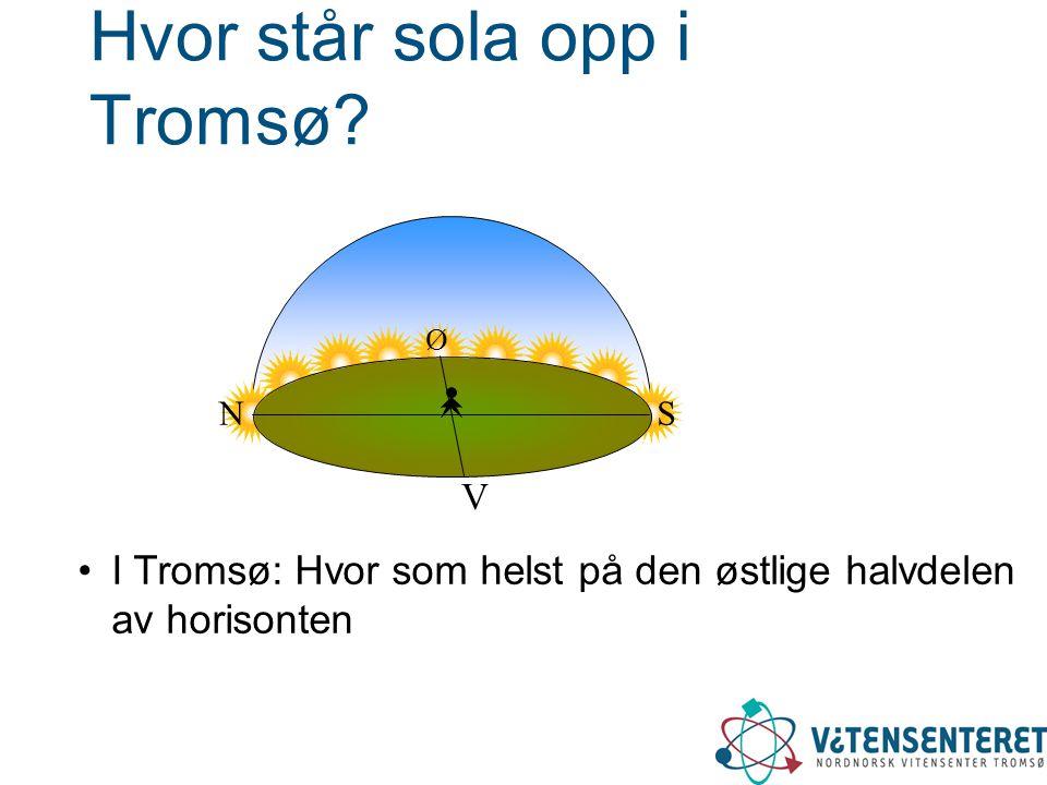 Hvor står sola opp i Tromsø