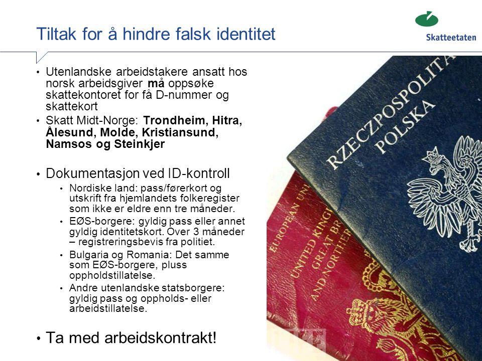 Tiltak for å hindre falsk identitet