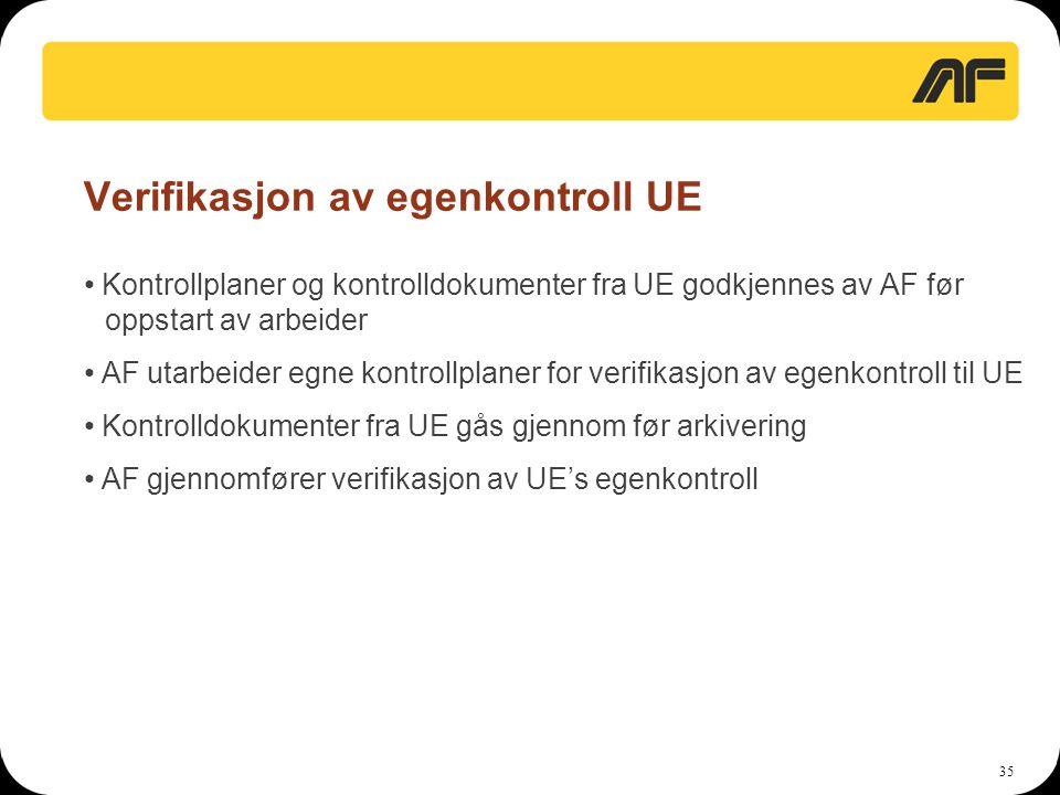 Verifikasjon av egenkontroll UE