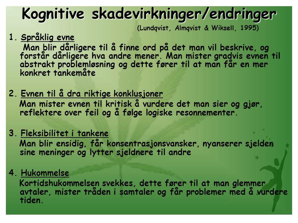 Kognitive skadevirkninger/endringer