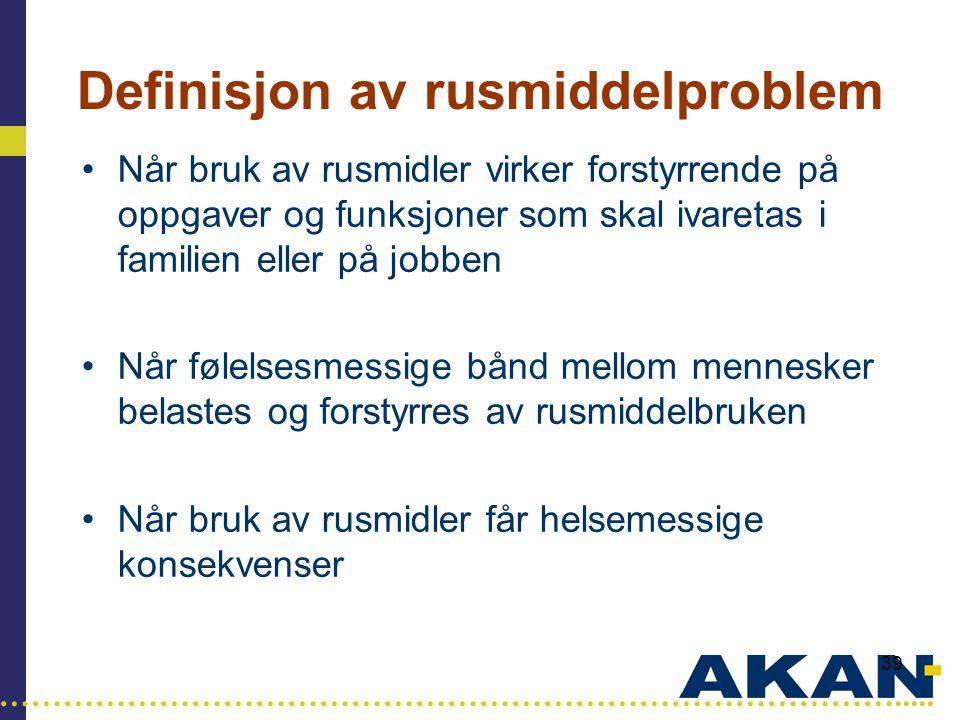 Definisjon av rusmiddelproblem