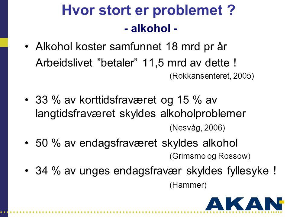 Hvor stort er problemet - alkohol -