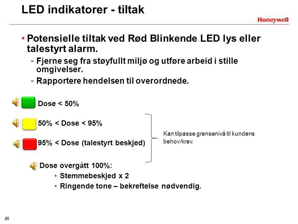 LED indikatorer - tiltak