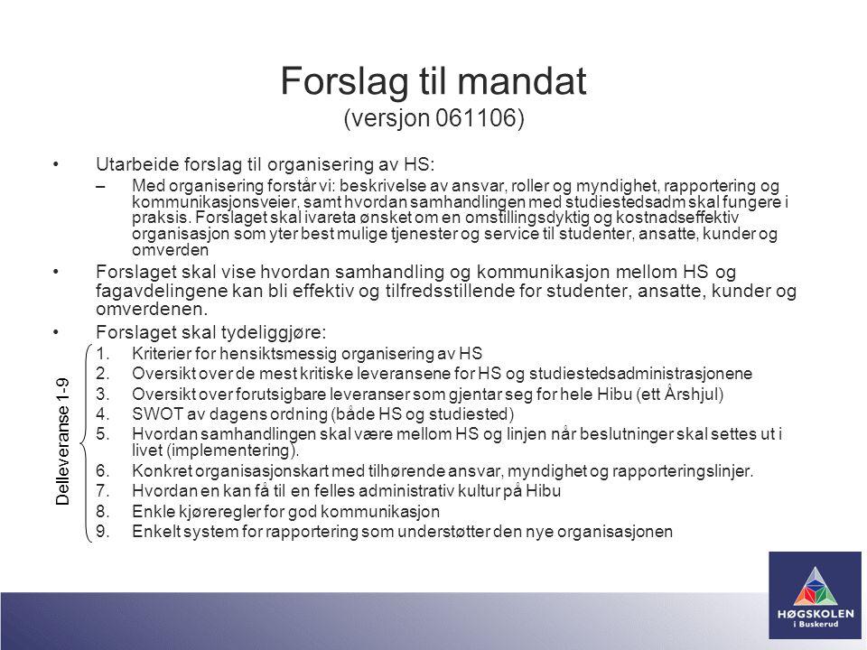 Forslag til mandat (versjon 061106)