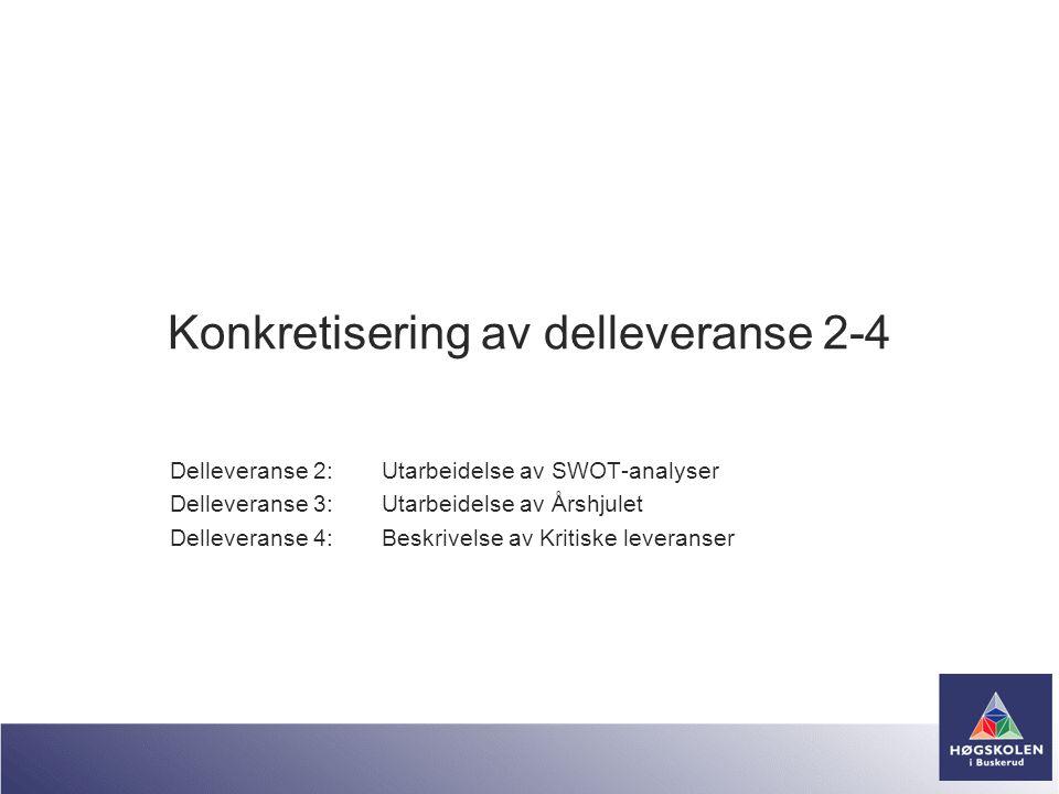 Konkretisering av delleveranse 2-4