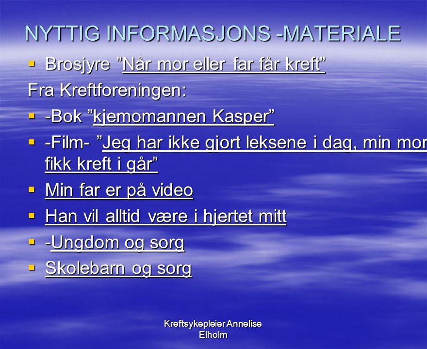 NYTTIG INFORMASJONS -MATERIALE
