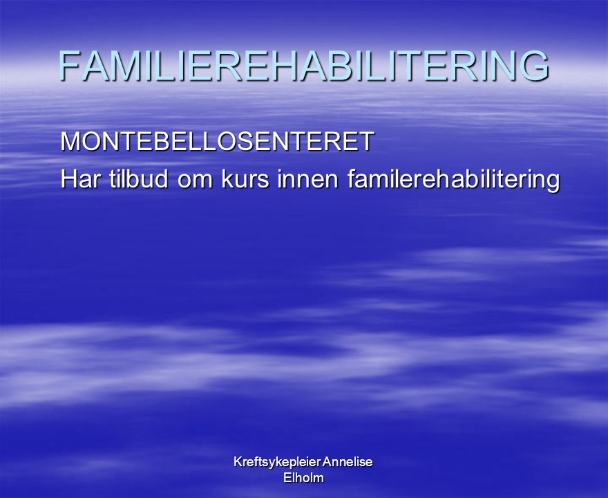 FAMILIEREHABILITERING