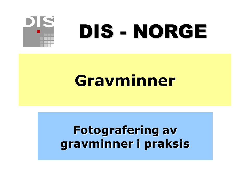 Fotografering av gravminner i praksis