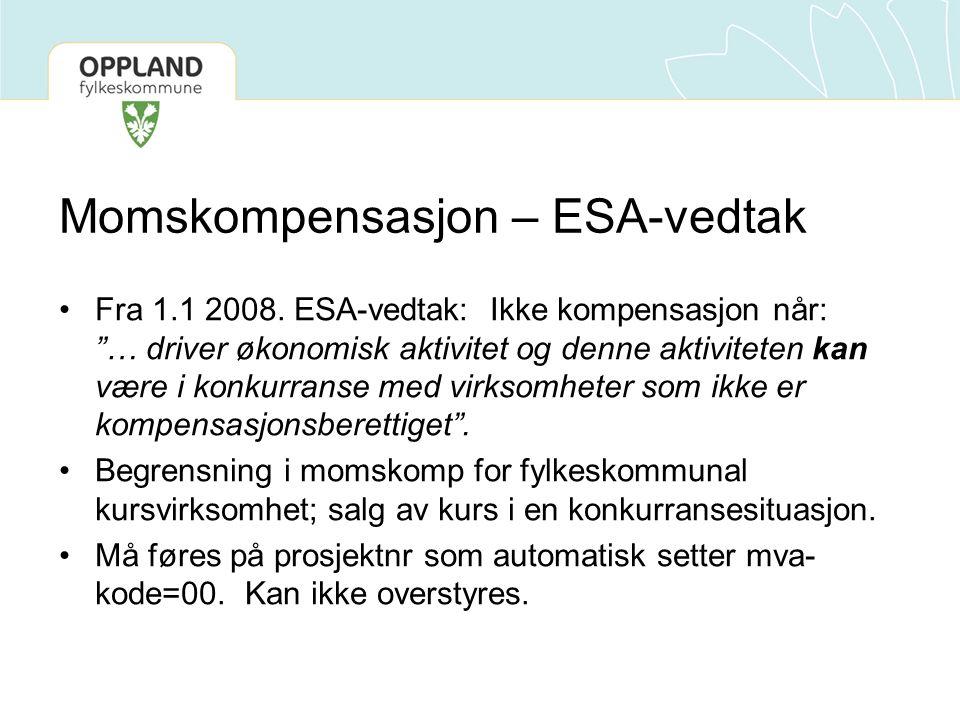 Momskompensasjon – ESA-vedtak