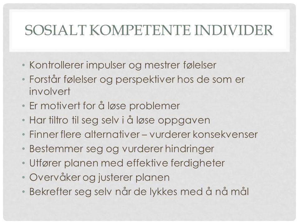 Sosialt kompetente individer