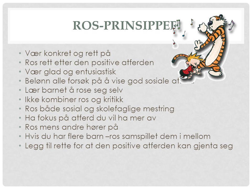 Ros-prinsipper Vær konkret og rett på
