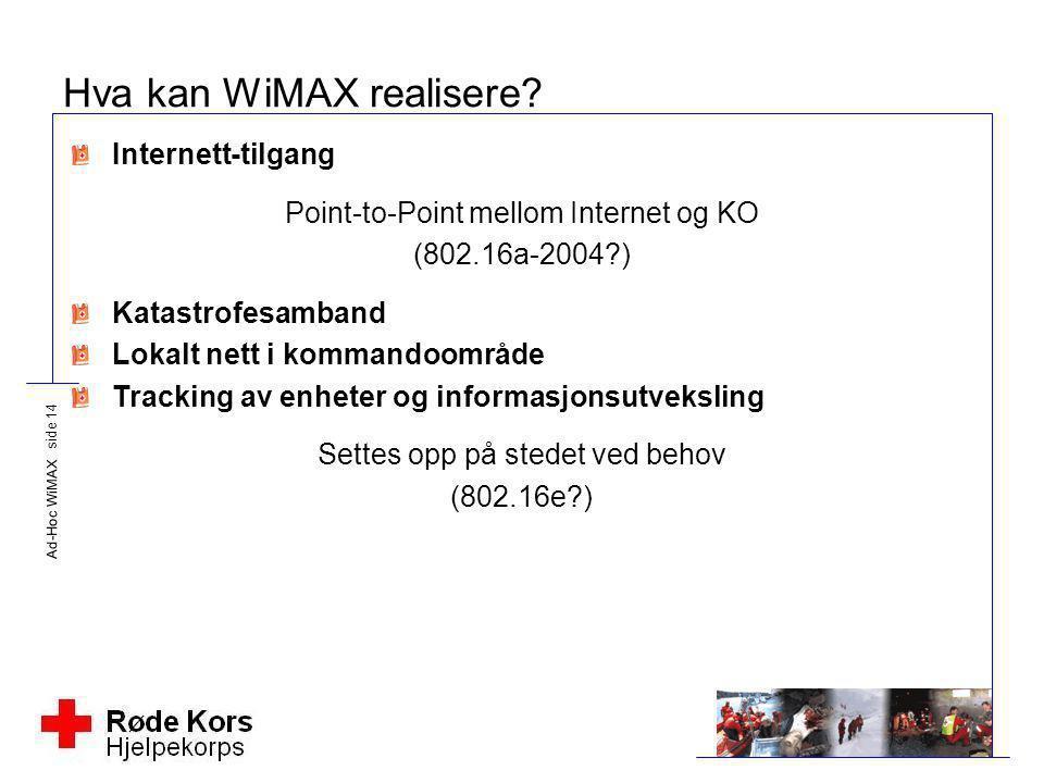 Hva kan WiMAX realisere