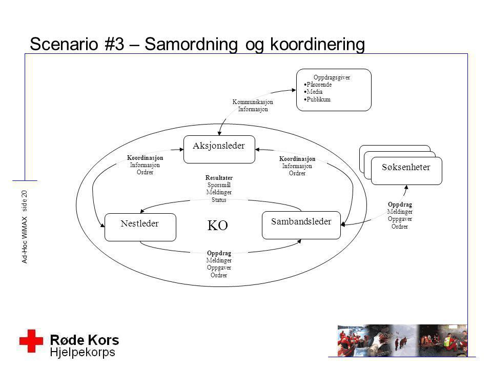 Scenario #3 – Samordning og koordinering