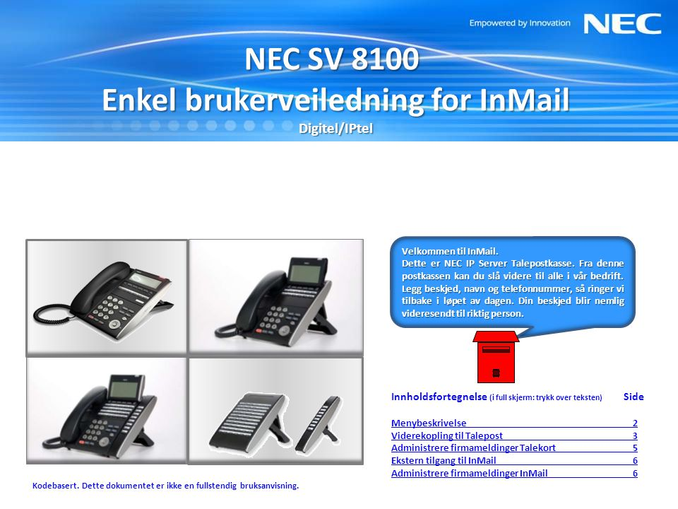 Enkel brukerveiledning for InMail