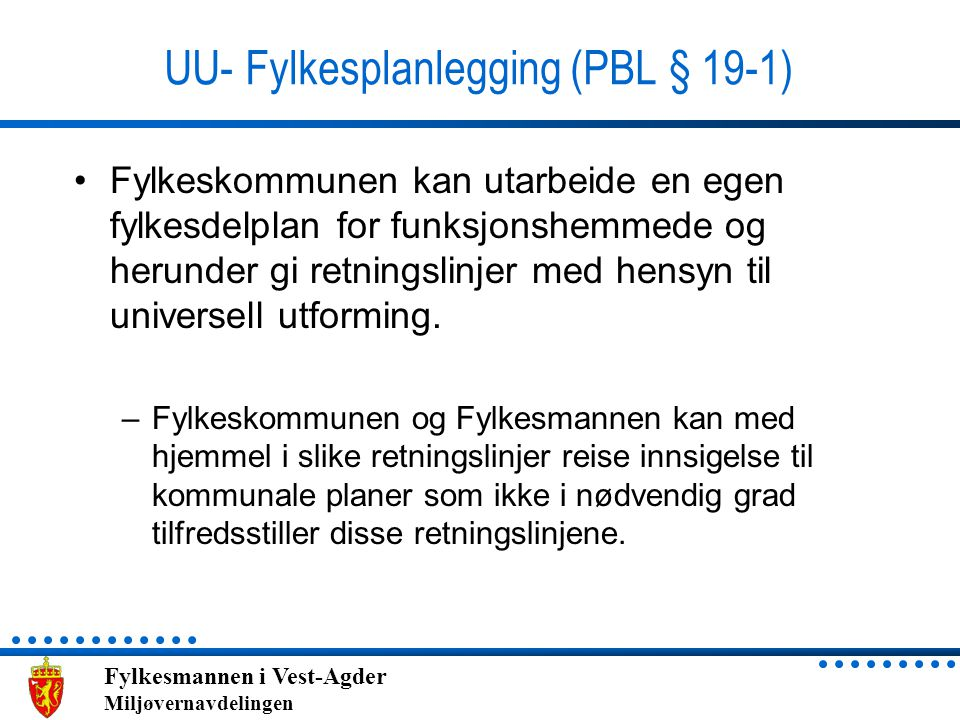 UU- Fylkesplanlegging (PBL § 19-1)