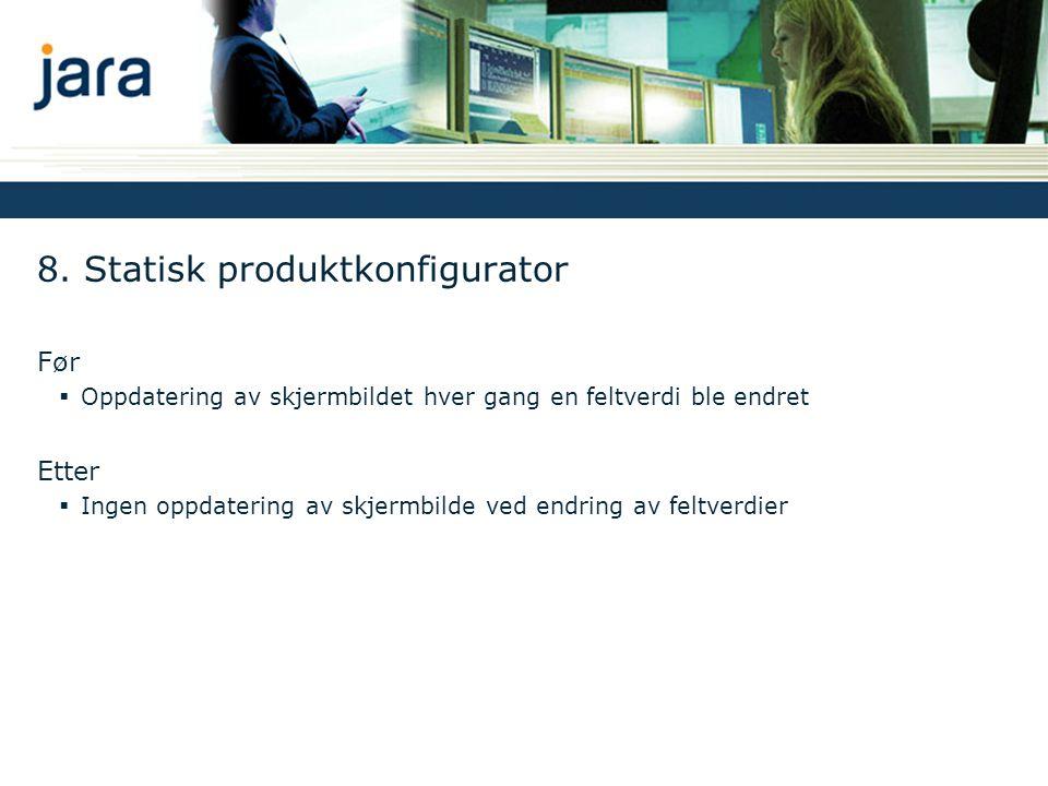 8. Statisk produktkonfigurator