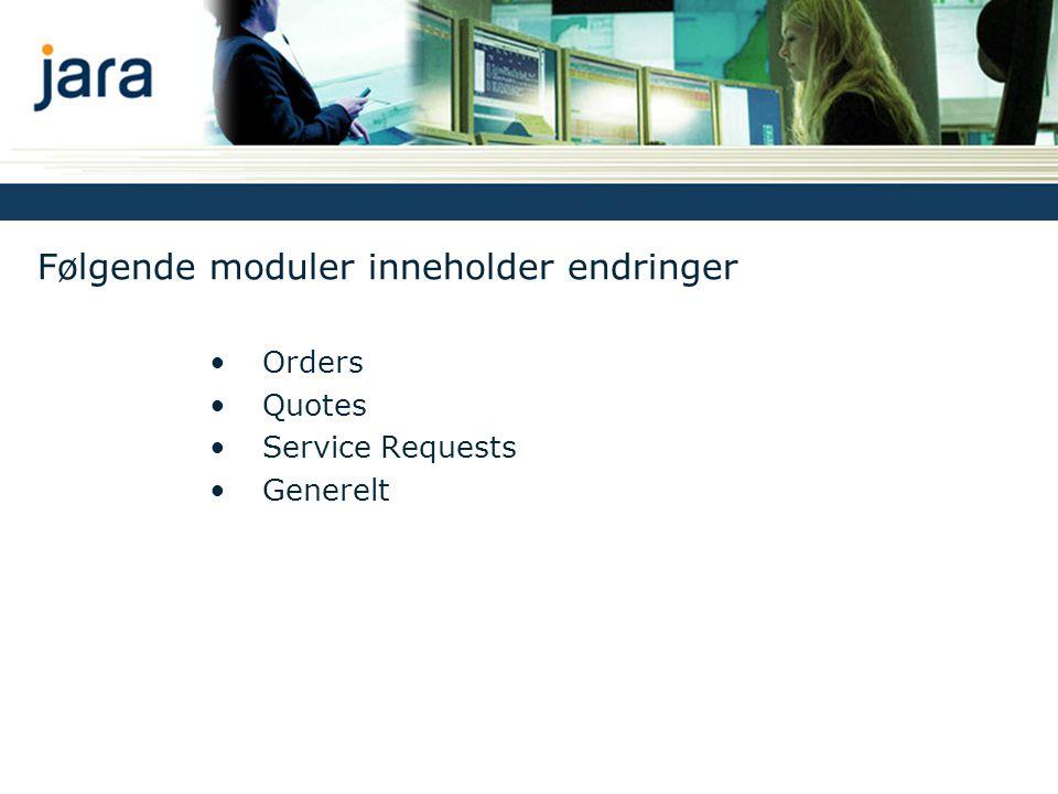 Følgende moduler inneholder endringer