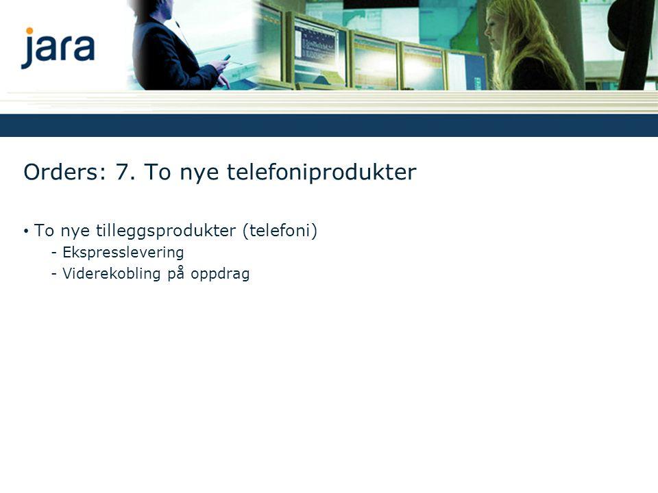 Orders: 7. To nye telefoniprodukter