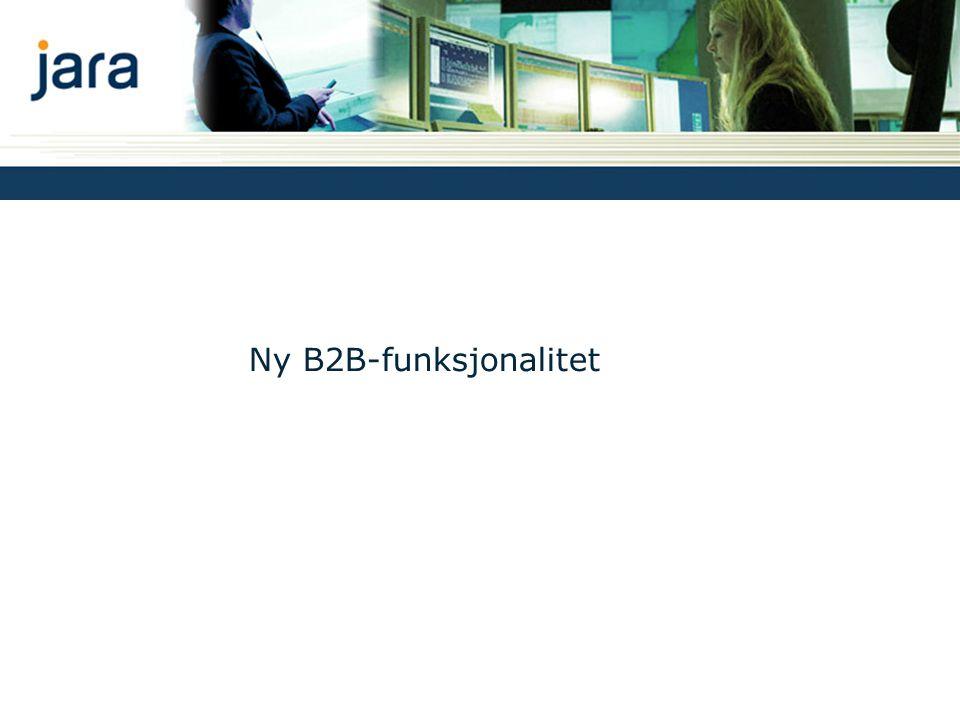 Ny B2B-funksjonalitet