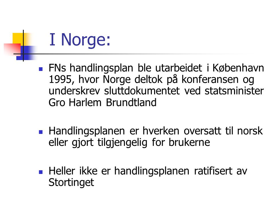 I Norge: