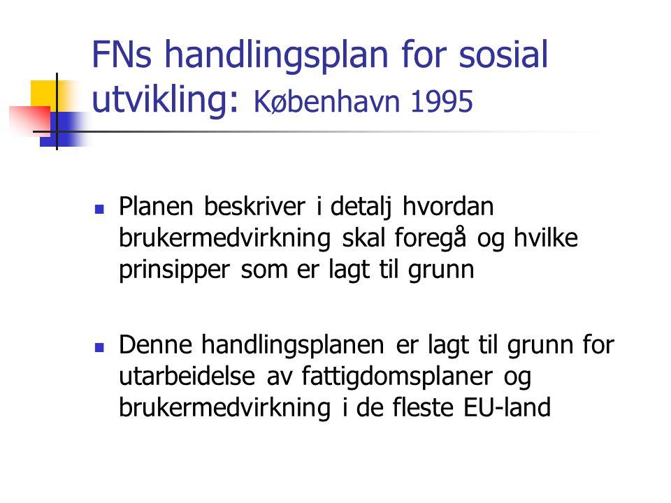 FNs handlingsplan for sosial utvikling: København 1995
