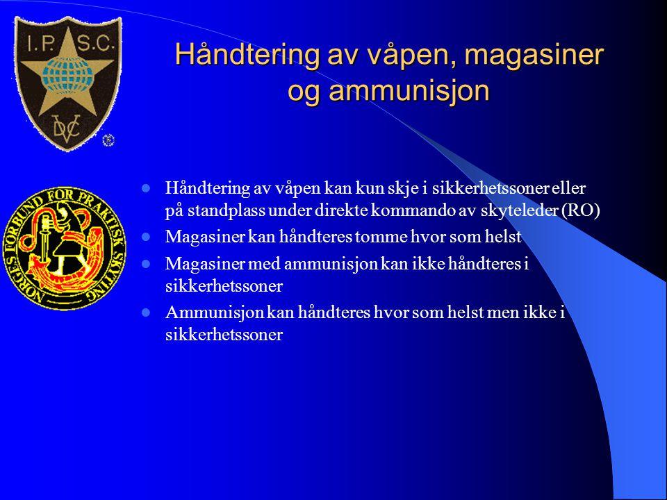 Håndtering av våpen, magasiner og ammunisjon
