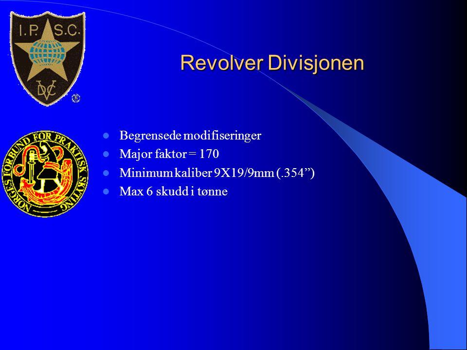 Revolver Divisjonen Begrensede modifiseringer Major faktor = 170