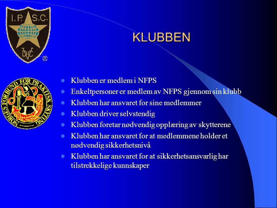 KLUBBEN Klubben er medlem i NFPS