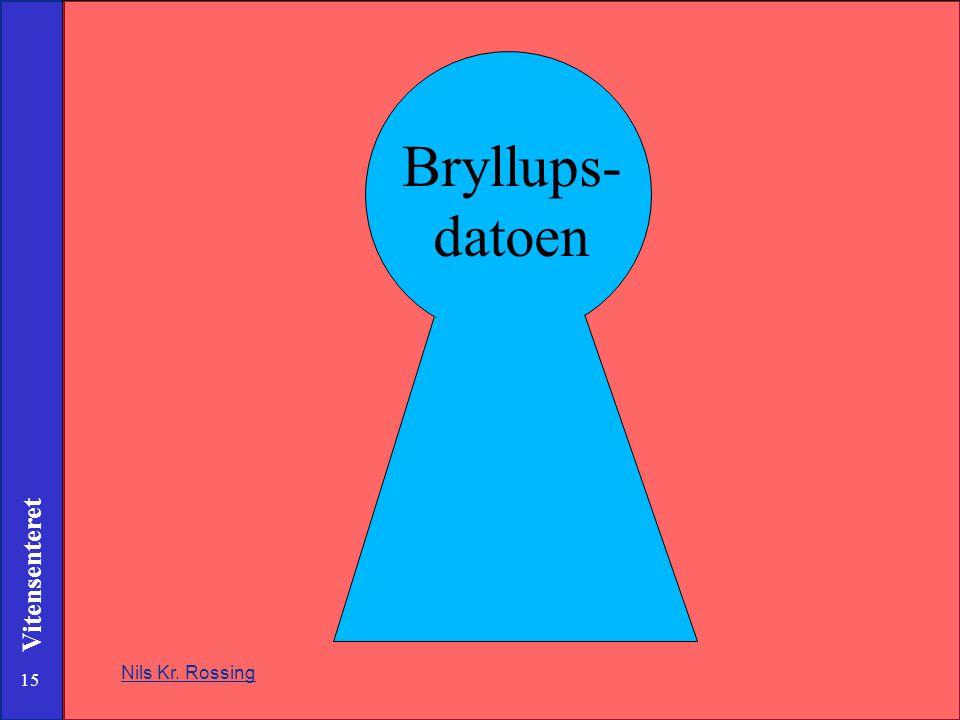 Bryllups- datoen Nils Kr. Rossing