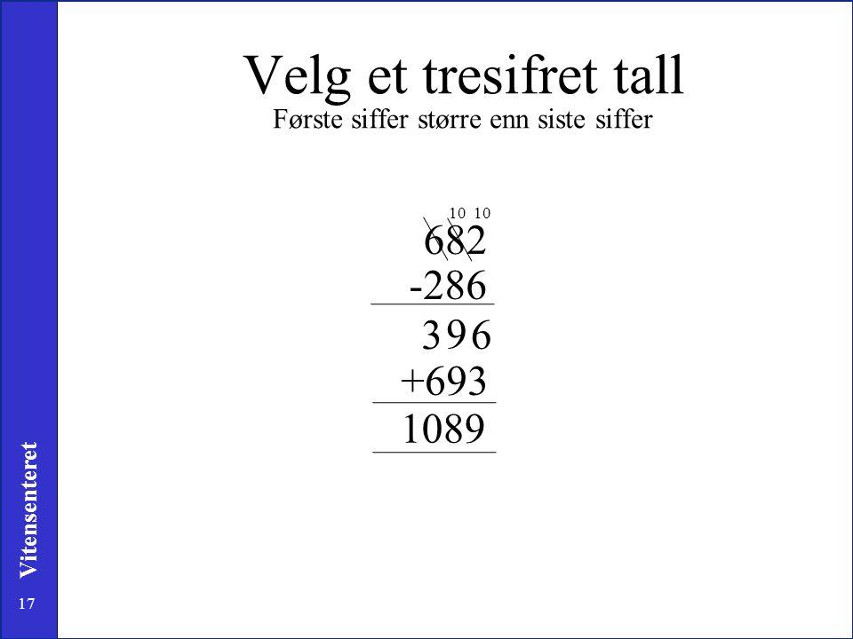 Velg et tresifret tall Første siffer større enn siste siffer