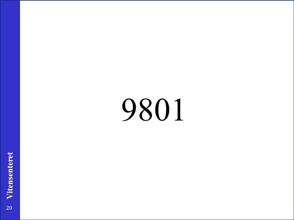 9801 13. I samme åndedrag forteller han meg at hans yndlingstall var 9801 (egentlig 0,9801) og stort mer fortalte han ikke.