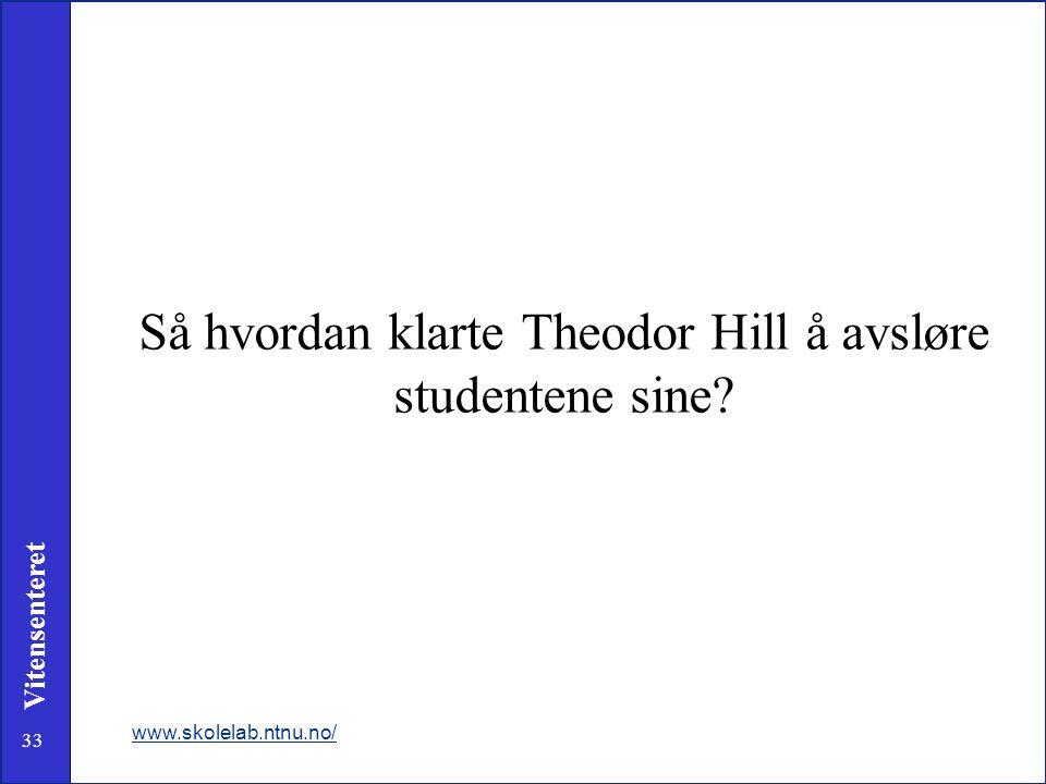 Så hvordan klarte Theodor Hill å avsløre studentene sine
