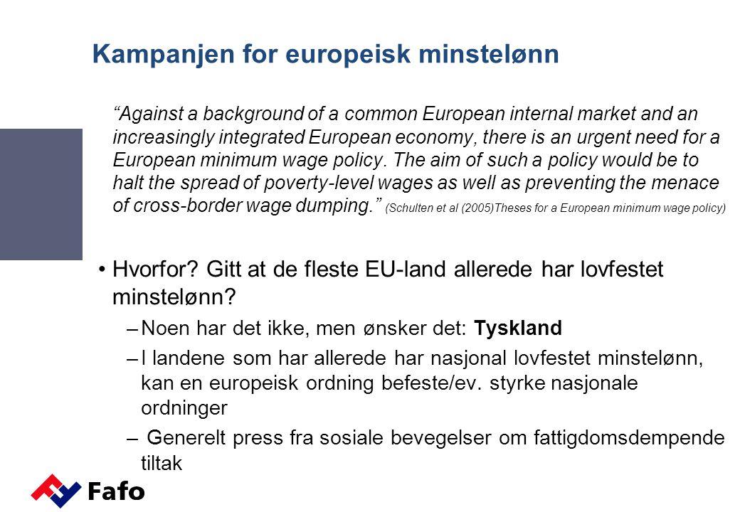 Kampanjen for europeisk minstelønn