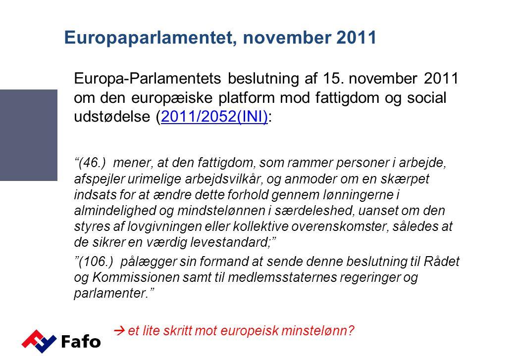Europaparlamentet, november 2011
