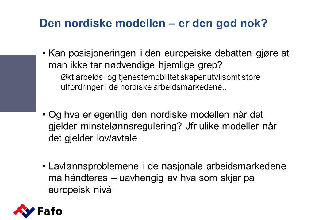 Den nordiske modellen – er den god nok