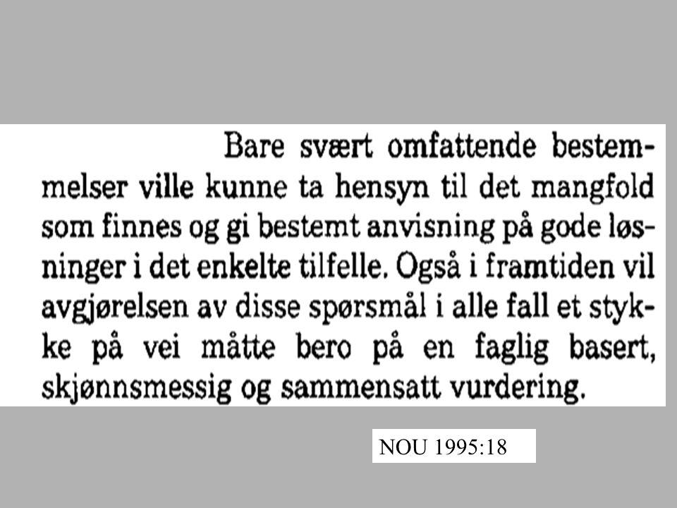 NOU 1995:18
