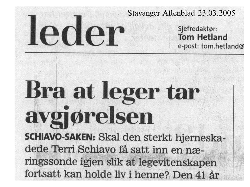 Stavanger Aftenblad 23.03.2005