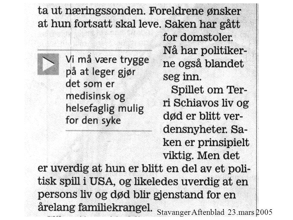 Stavanger Aftenblad 23.mars 2005