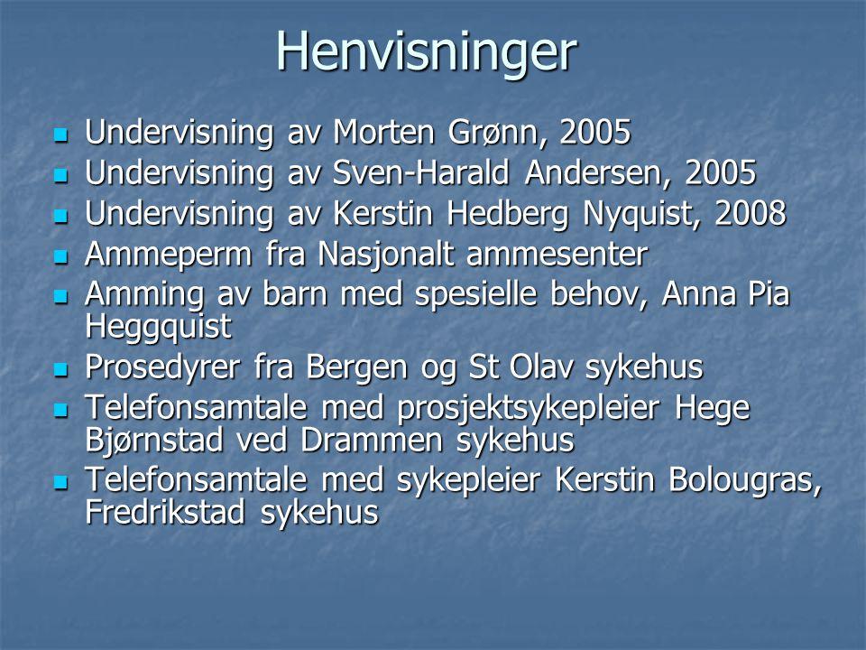 Henvisninger Undervisning av Morten Grønn, 2005